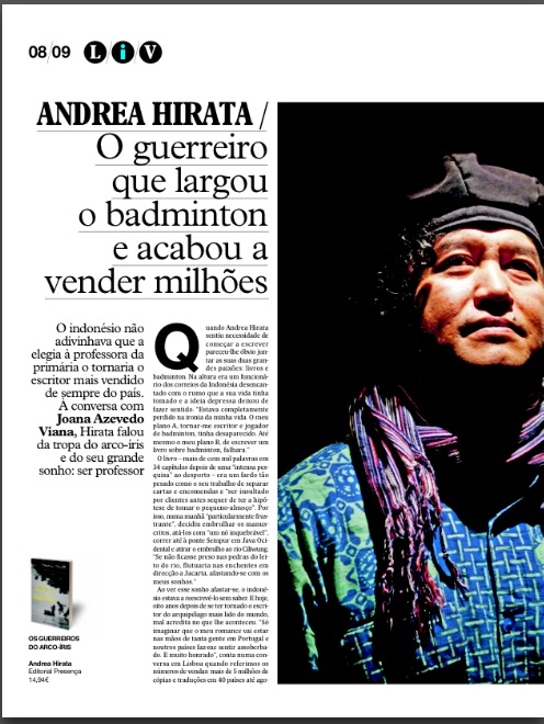 Andrea Hirata on ionline.pt, Portugal, April 2013 page 1